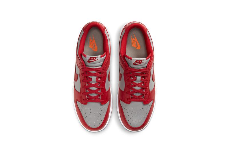 nike dunk low unlv DD1391-002 varsity red medium grey white release info photos buying guide store list
