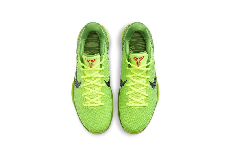 nike kobe 6 protro grinch CW2190 300 release date info kobe bryant christmas eve black mamba 2009 basketball shoes photos pricing buying guide