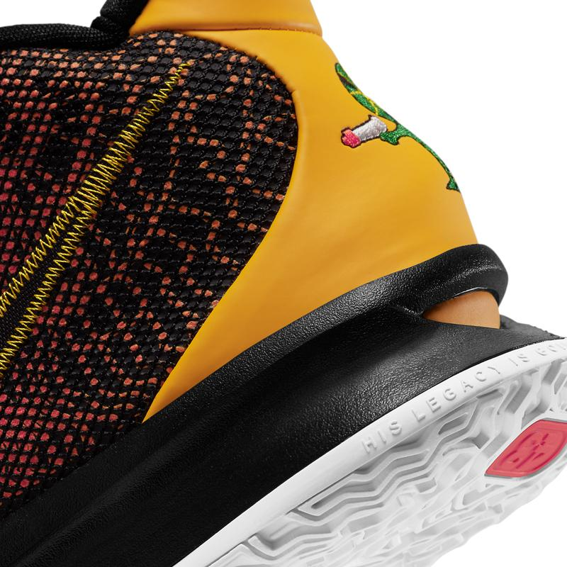 nike kyrie 7 raygun CQ9327 003 black university gold team orange release info pricing store list photos buying guide