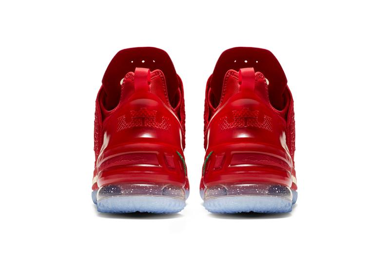 Nike LeBron 18 X-Mas in LA First Look Release Info DB8148-601 Date Buy Price James Basketball