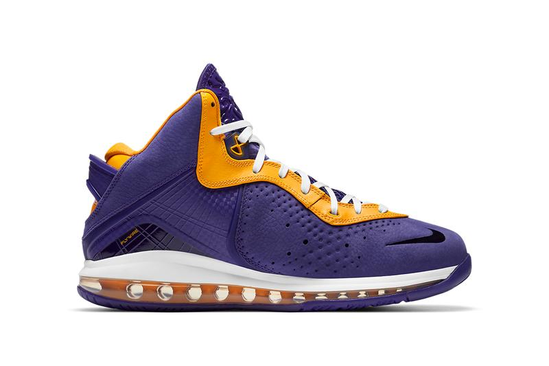nike lebron 8 lakers DC8380 500 court purple university gold white release date info photos buying guide
