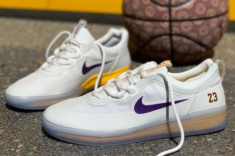 nike sb skateboarding nyjah free 2 lebron james los angeles lakers white purple gold official release date info photos price store list buying guide