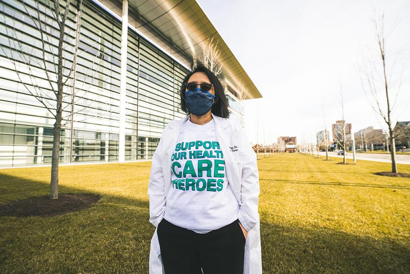 Off-White™ Suay Masks, Shirts for Cleveland Clinic face healthcare heroes donation charity covid 19 pandemic