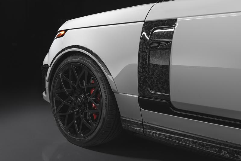 Overfinch Land Rover Range Rover Autobiography SVAutobiography 2021 Velocity Final Edition Crushed Carbon Fiber Body Kit Luxury Tuned SUV 4x4 $285,000 USD V8 Engine Power Speed Performance US USA American Market Cars Automotive British