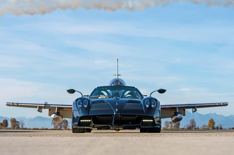Pagani Huayra Tricolore Italian Air Force Aerobatic Team Tribute Italy Supercar Cars Hypercar Zonda Open-Top Huayra Imola Translucent Blue Carbon Fiber Weave Body Kit Aerodynamic Speed Power Performance Jets V12