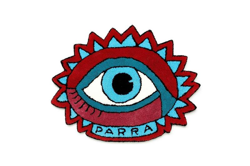 parra eye woven rug tufted red blue white release info photos buying guide