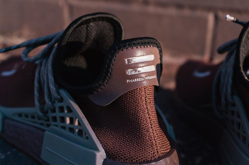 pharrell williams adidas originals nmd hu auburn simple brown black gy0090 official release date info photos price store list buying guide