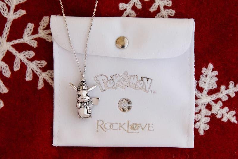 Pokémon RockLove Jewelry Winter 2020 Pikachu Necklace Release Info Buy Price Silver