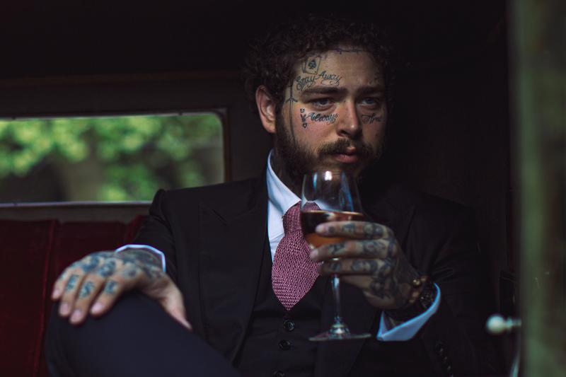 Post Malone Maison No. 9 French Rosé Wine Bottle 750cl Limited Edition UK Launch Alcohol Drinks Beverages Dre London James Morrissey Global Brand Equities
