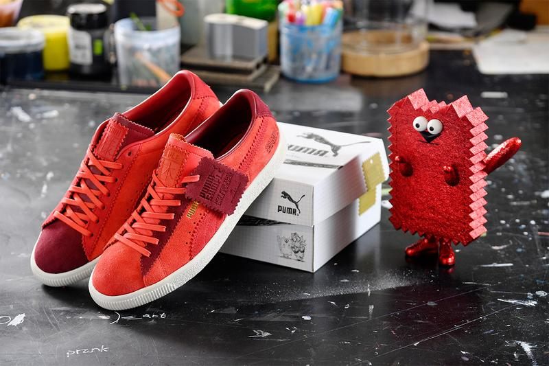 Michael Lau PUMA suede VTG sample collaboration red