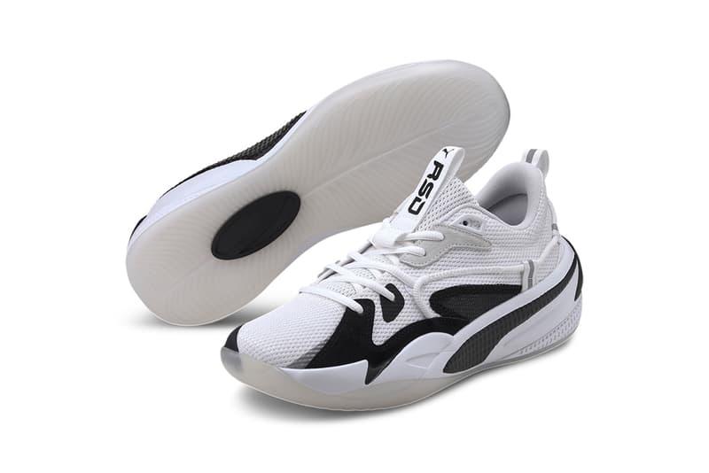 puma j cole rs dreamer ebony ivory black white release information details buy cop purchase nba basketball