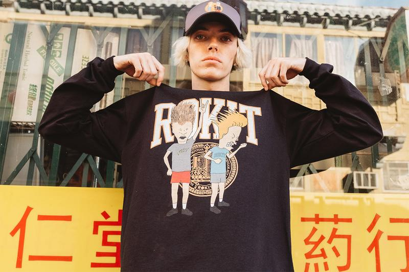 rokit beavis and butt-head collaboration hoodie long sleeve t-shirt trucker hat sweatpants release info date pricing buying guide