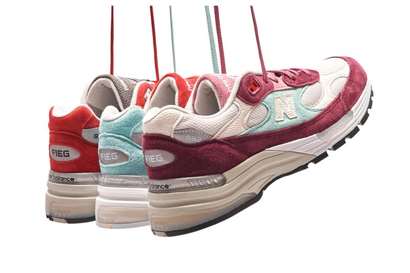 ronnie fied new balance 992 kithmas release info light blue red white pricing photos buying guide store list