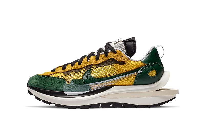 sacai nike vaporwaffle tour yellow CV1363 700 green white black release info date photos pricing buying guide