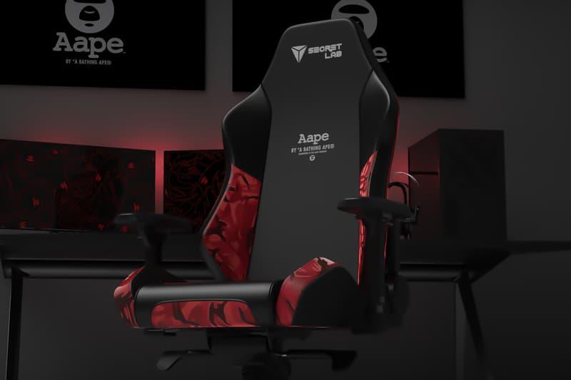 Secretlab AAPE Gaming Chair Collab Teaser Info Date Buy Price
