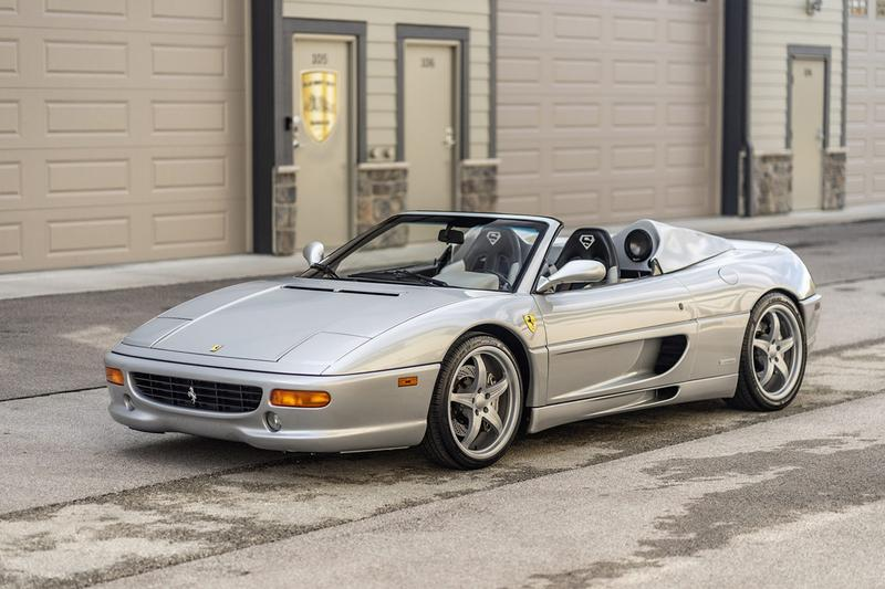 Shaquille O'Neal 1998 Ferrari F355 Spider Auction car sale personal superman silver price buy custom Bring a Trailer