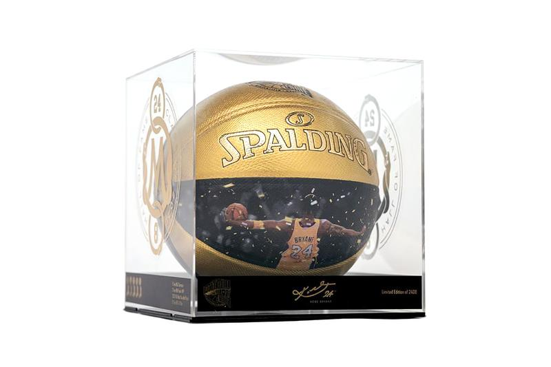 spalding kobe bryant hall of fame basketball release info date black mamba black gold