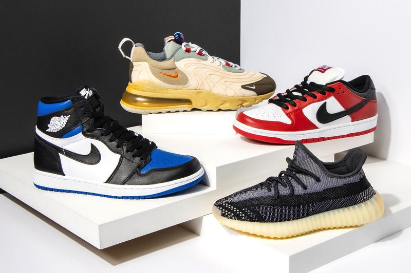 "Adidas Yeezy Boost 350 V2 ""Yecheil"", Air Jordan 11 Retro ""Bred 2019"", Adidas Yeezy Boost 350 V2 ""Black - Static"", Air Jordan 1 Mid GS ""Chicago Black Toe"", Air Jordan 12 Retro ""University Gold"", Air Jordan 3 Retro ""UNC"", Adidas Yeezy Boost 350 V2 ""Zebra - 2018/2019 Release"", Air Jordan 6 Retro ""DMP 2020"", Yeezy Boost 700 ""Inertia"", Air Jordan 1 Retro High ""Off-White - UNC"","