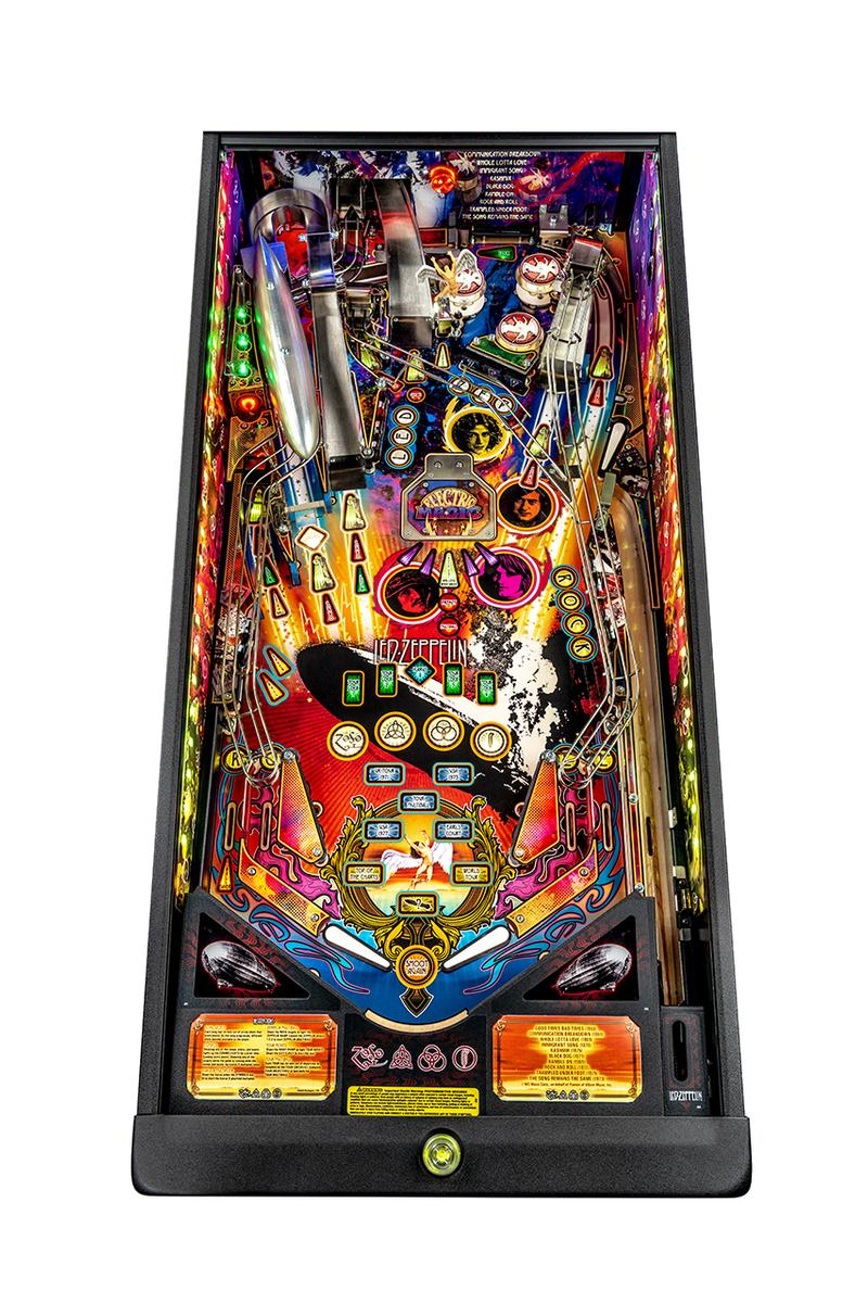 led zeppelin stern pinball machine release info photos limited edition robert plant rock and roll band