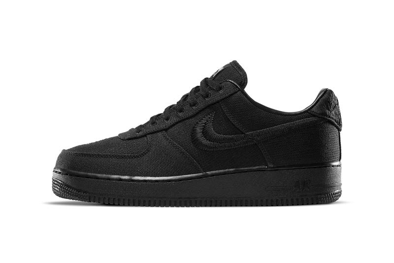 stussy nike sportswear air force 1 low black CZ9084 001 official release date info photos price store list buying guide