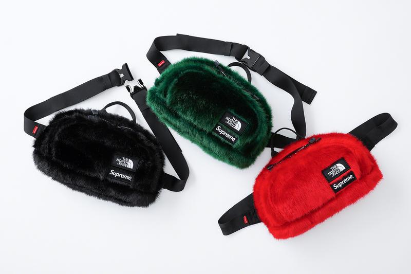 Supreme The North Face FW20 Faux Fur Collection Release Info Nuptse Jacket Backpack Waist Bag