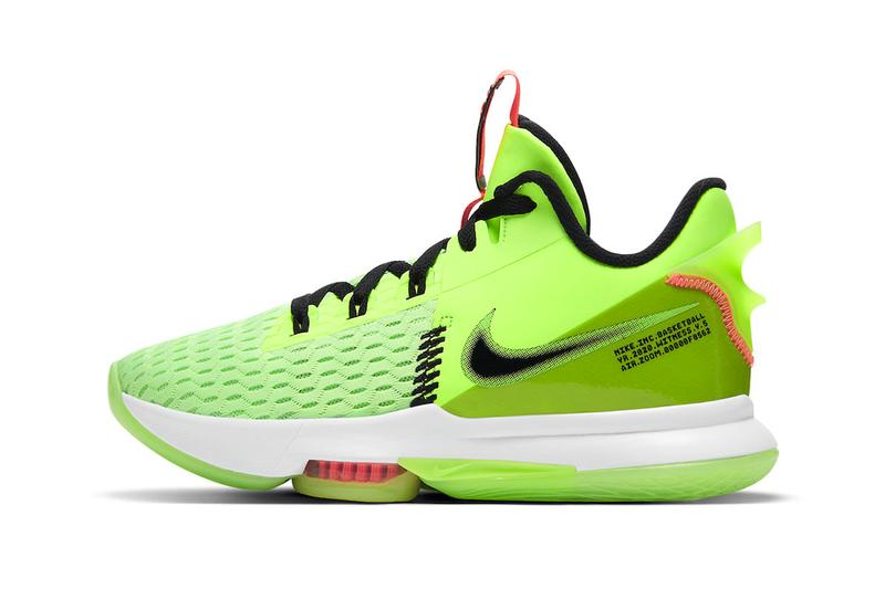 Lebron James Nike Witness 5 Sneaker Holiday Lime Basketball cq9381-300 NBA Basketball