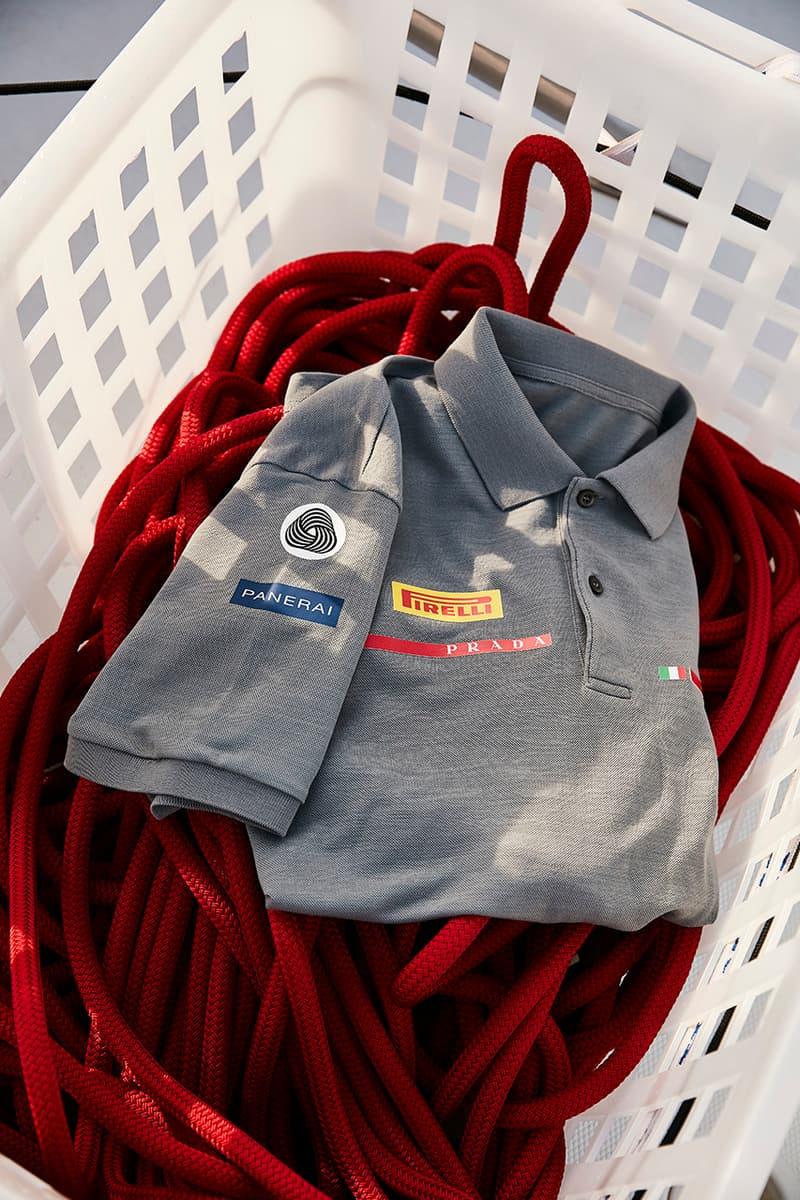 The Woolmark Company x Prada Luna Rossa Pirelli Merino Wool Team Uniforms Release Information Sailing Boat Sports 36th America's Cup Jacket Polo T-Shirt