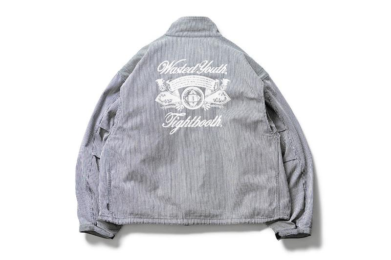 TIGHTBOOTH Wasted Youth Two Piece Drop jacket hoodie capsule graphics artwork collection pin stripe illustration shinpei ueno