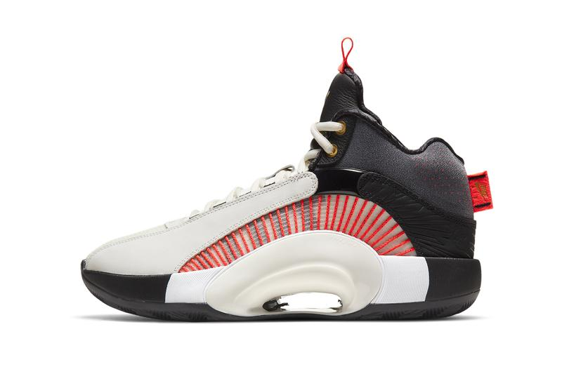 titan air jordan 35 DD4701 001 collaboration white black red gold release info date pricing photos buying guide