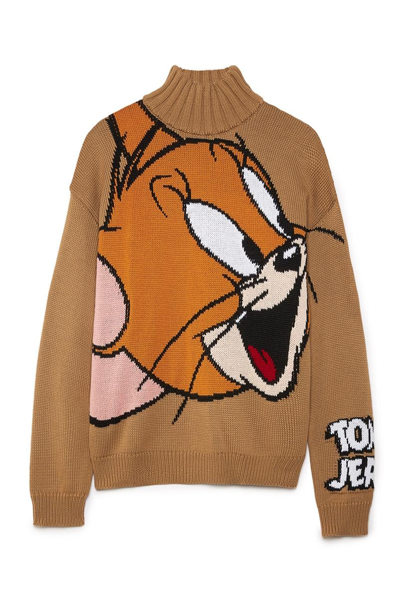 'Tom & Jerry' x GCDS Capsule Collection Cat Mouse Characters Children Cartoon Napoli Pile Jacket Borg Fleece Wool Sweater Gray Camel FW20 Fall Winter 2020