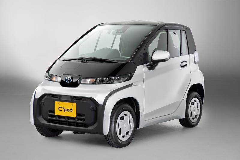 toyota electric cars vehicles c pod two seater japan domestic urban commuting battery
