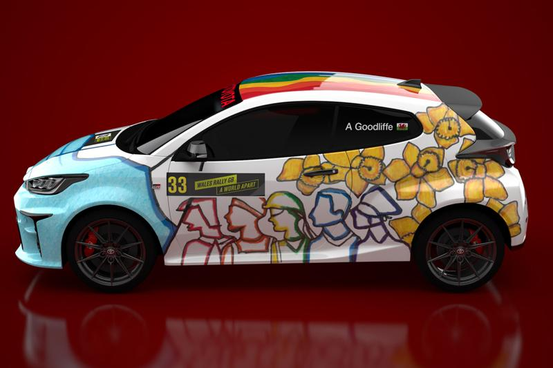 """Toyota GR Yaris """"Design a Rally Car Livery"""" Pandemic Key Workers COVID-19 Coronavirus Face Mask NHS Welsh Student WRC Cars Small Hot Hatch JDM Japanese"""