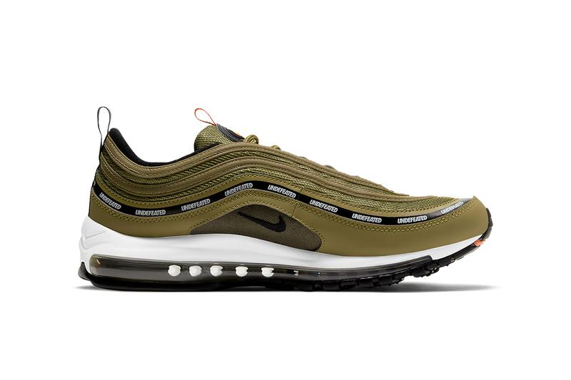 undefeated nike air max 97 DC4830 300 DC4830 001 militia green black orange blaze white black volt militia green white