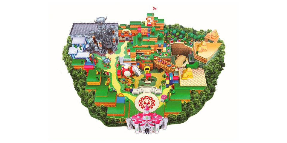 Universal Studios Japan Officially Releases Its Finalized Super Nintendo World Map