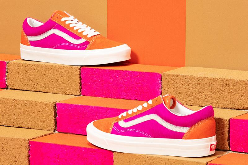 vans anaheim factory collection lux color block pony hair grey gray white pink release information details