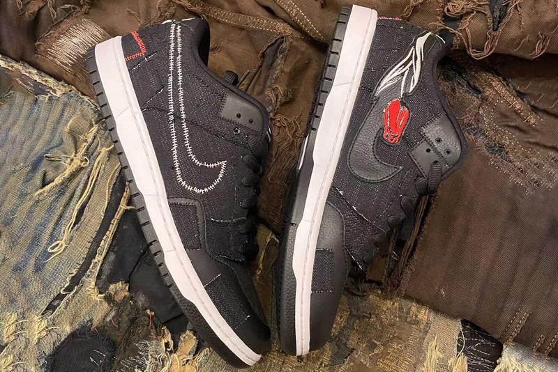 verdy wasted youth nike sb dunk low punk denim patches first look official release date info photos price store list buying guide