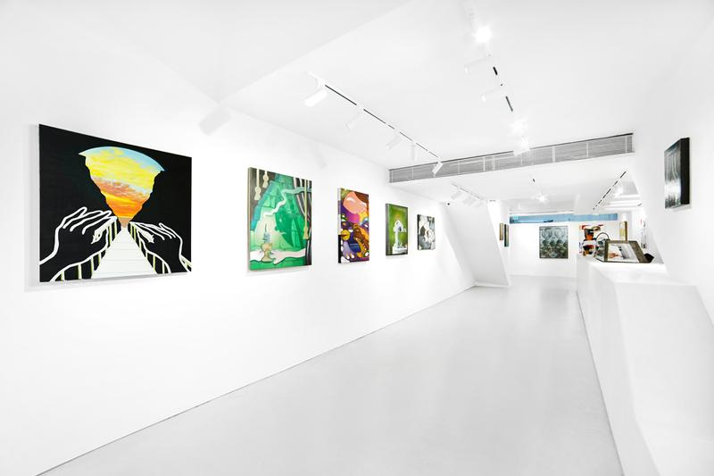 woaw gallery universes three group exhibition hong kong paintings artworks