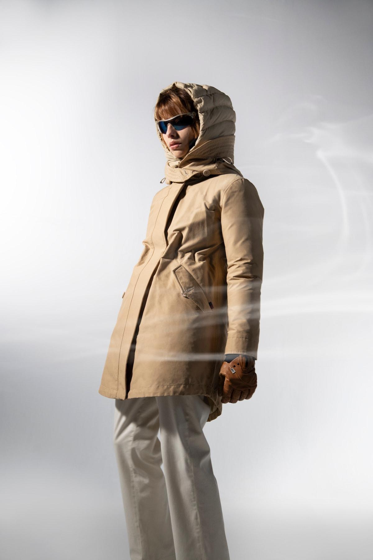 woolrich parka line women luxe tech eco innovation tech photoshoot hypebeast fashion apparel