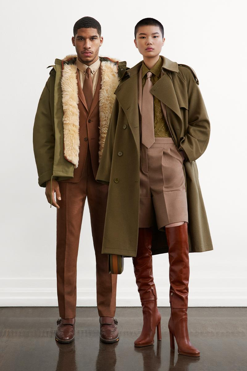 burberry Ricardo tisci lookbook trench coat camouflage camo floral fall winter 2021 FW21 pre-collection