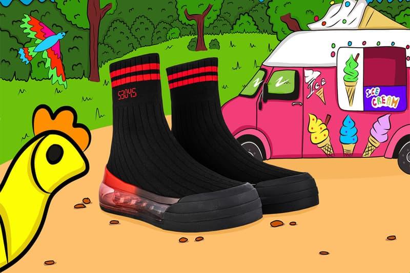 SHOES 53045 Sock'Air Sock Sneaker Shoe Comfort Unisex White Blue Black Red Tennis Tabi Boot Japanese Spotify