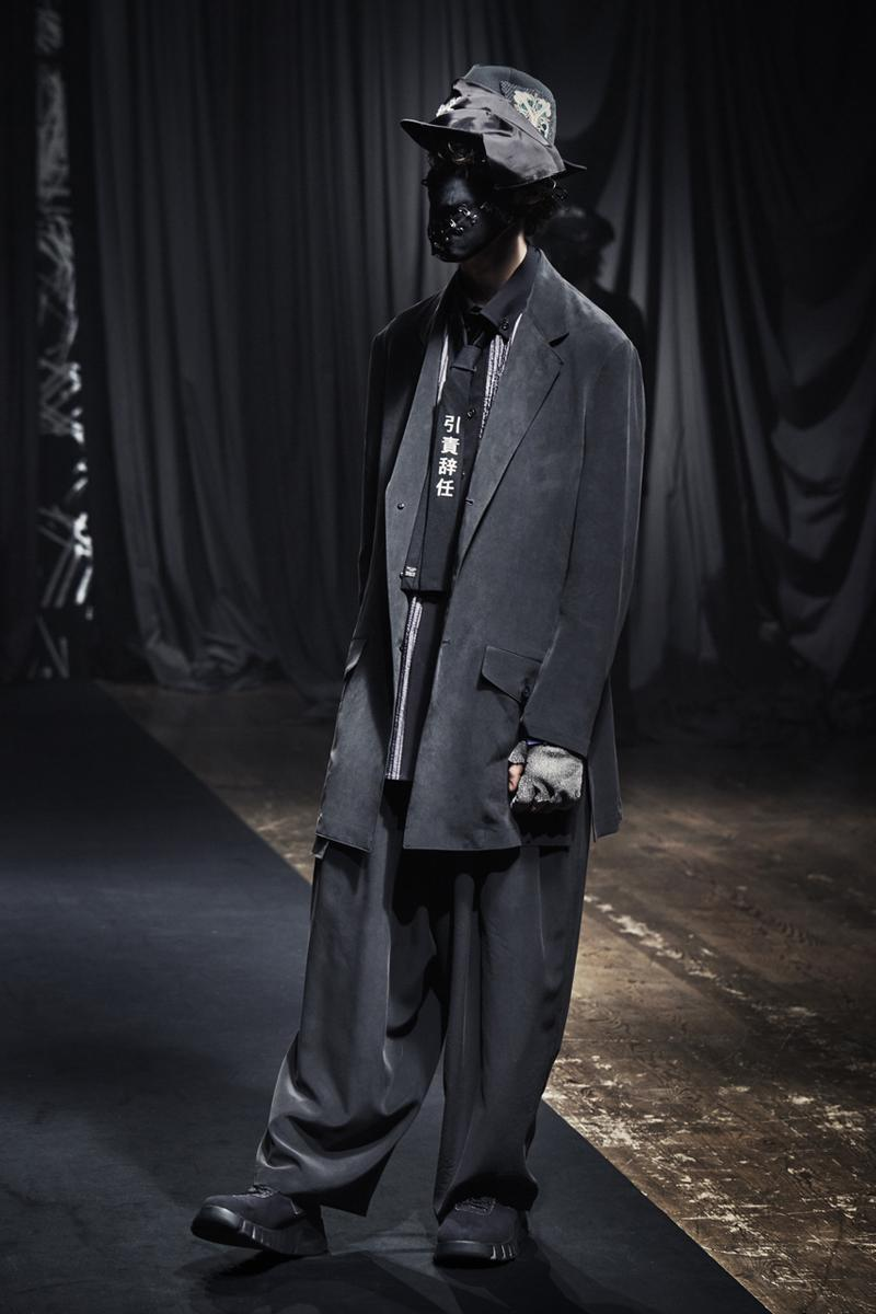 Yohji Yamamoto Fall/Winter 2021 Collection Lookbook pour homme fw21 menswear paris fashion week