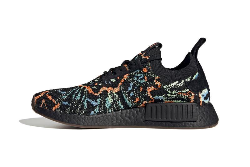 adidas Originals NMD_R1 Primeknit Shoes Sneakers Three Stripes BOOST Sole Unit Core Black / Gum G57941 Fifth 5 Anniversary Limited Edition Footwear