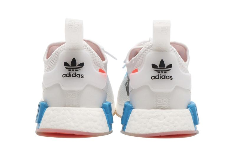 "adidas Originals NMD R1 Spectoo fz3629 ""Footwear White/Solar Red/Shock Blue"" New Sneaker SS21 Release Information Drop Date Closer First Look Technical Data Inspired Spring Summer 2021 Three Stripes BOOST midsole HYPE"