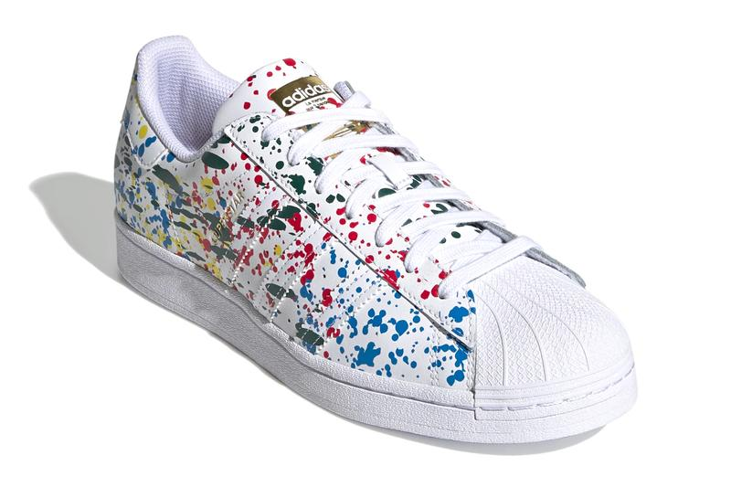 adidas Originals Superstar Paint Splatter Core White black fx5537 menswear streetwear kicks shoes sneakers trainers runners spring summer 2021 ss21 silhouettes release
