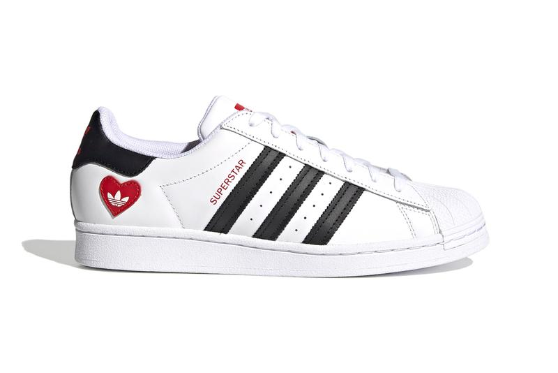 adidas Originals Valentine's Day Pack Superstar Ozweego Continental 80 NY 90 Cloud White / Core Black / Scarlet FZ1807 FZ1825 FZ1818 H67497 February 14 Love Mens Shoes Three Stripes Footwear Trainers Sneakers Release Information Drop Date Closer First Look