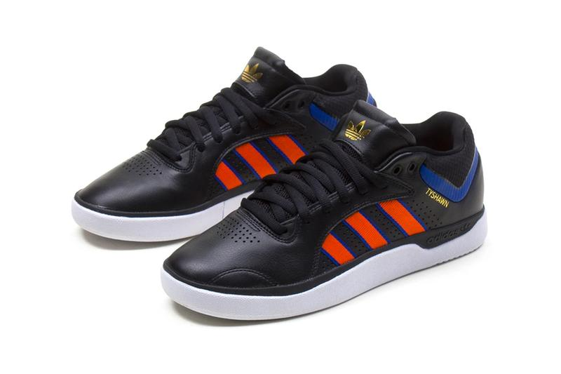 adidas skateboarding tyshawn jones new york knicks core black orange royal blue FY7471 official release date info photos price store list buying guide