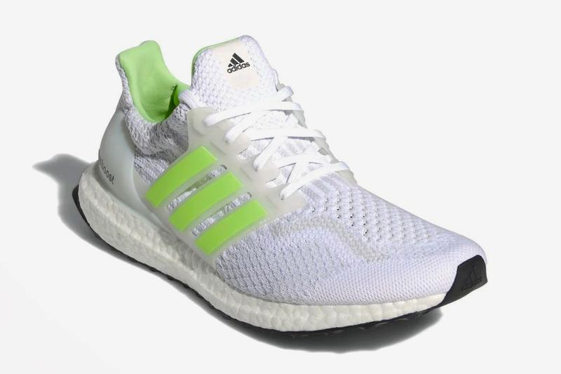 adidas running ultraboost 5 0 dna glow in the dark cloud white signal green dash grey G58753 official release date info photos price store list buying guide