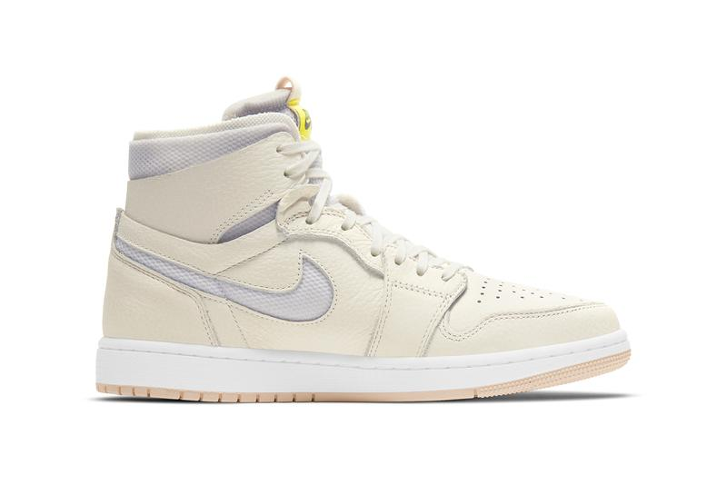 air michael jordan brand 1 high zoom cmft sail pearl white light voltage yellow womens ct0979 107 official release date info photos price store list buying guide