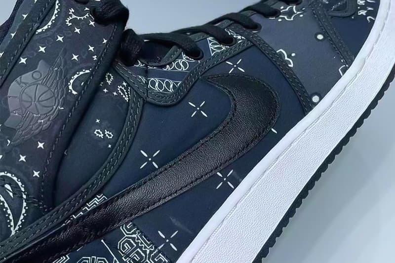 Air Jordan 1 KO Paisley First Look Release Blue Black Date Buy Price