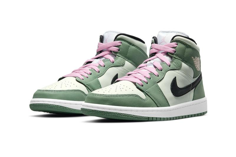 Air Jordan 1 Mid SE Dutch Green Release Info cz0774-300 Buy Price Date Black Barely Green